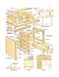 build a desk plans quick woodworking projects free wood computer