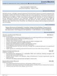 Training And Development Resume Samples