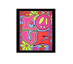 Love Blacklight Wall Tapestry College Dorm Room Decorations Decor