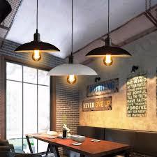 Wholesale Vintage Iron Pendant Lights Hanging E27 Bulb Night Lamp Fixture Loft Bar Living Room Home Decor Novelty Lighting