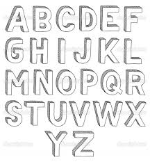A To Z 3D Letter Drawing How To Draw 3D Letters A Z How To Draw