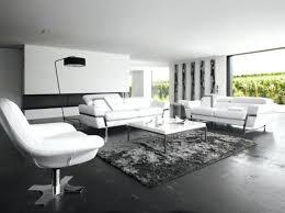 canapé design blanc deco salon design salon noir blanc canape cuir blanc crozatier