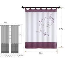 nibesser 1er pack transparent gardine stickerei vorhang