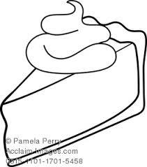 Pie clipart coloring 2
