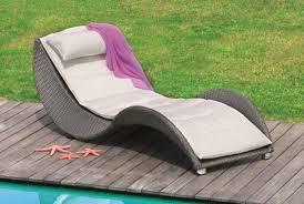 Rattan Sun Loungers Garden Furniture Ideas Wooden Pool Deck