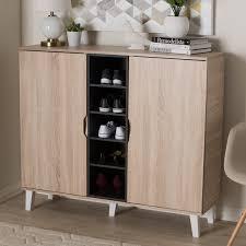 Baxton Studio Warren Shoe Cabinet by Shoe Storage Cabinet Interior Design