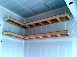 Ceiling Material For Garage by Ceiling Mounted Garage Storage Corner Good Wall And Ceiling