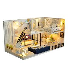 Kits DIY Wood Miniature Dollhouse With Furniture Doll House Room