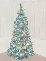Vickerman Slim Flocked Christmas Tree by Francesca Fuchs Artadia
