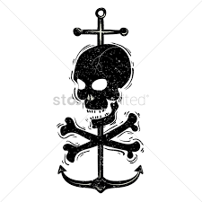 Skull Crossbones And Anchor Vector Graphic