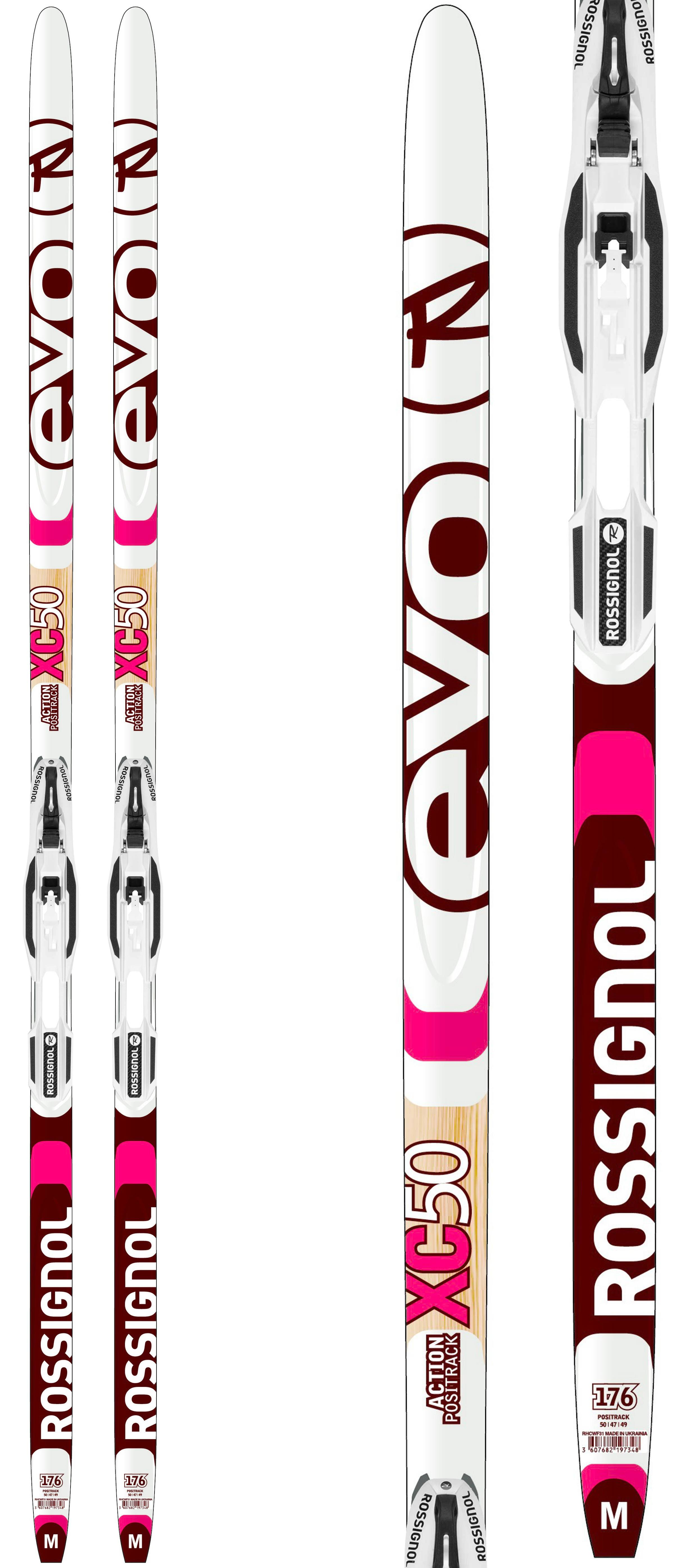 Rossignol Evo Action 50 IFP X-3 NNN Cross Country Ski Package - 196#