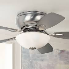 Brushed Nickel Ceiling Fan With Gray Blades by Ceiling Marvellous Low Profile Ceiling Fans Low Profile Ceiling