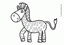 Coloring PagesCute Zebra Pages Printable For Kids Animals Baby Pictures Color Of To