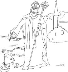 Free Clip Art Wonderfull Design St Patricks Coloring Pages Saint Patrick Driving Out The Snakes Of Ireland Catholic