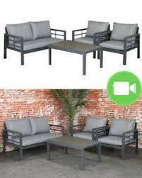 details zu sens line forza aluminium lounge set gartenmöbel sitzgruppe eck sitzgarnitur