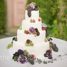 Buttercream Frosting And Organically Placed Figs Berries Grapes Flowers Gave The Cake A IdeasRustic Wedding