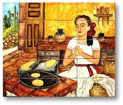 mexican tile lomeli kitchen 1 30 pcs mural kitchen murals