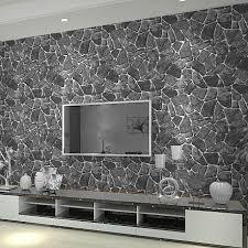 großhandel pvc schwarz 3d stein tapete für wohnzimmer schlafzimmer vinyl faux stein wand papier wohnkultur rolle good co ltd 42 46 auf
