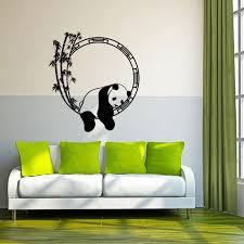 stickers panda chambre bébé noir créative panda stickers muraux pour chambre d enfant décoration