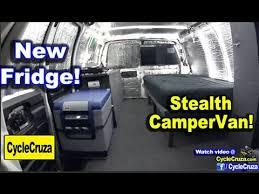 Stealth CamperVan ARB 50 Quart Refrigerator Install And Review Tiny House