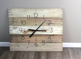 Clocks Rectangle Wall Clock Rectangular Pottery Barn Square Wooden Platform Of