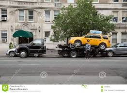 100 New Tow Trucks Yellow Cab On A Truck York USA Editorial Stock Photo Image