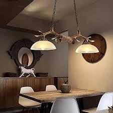 geweih pendelleuchte esstisch pendelle esstischle holz harz und glas hängeleuchte vintage industrie hängele rustikal für esszimmer leuchte