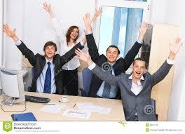 equipe bureau équipe joyeuse d affaires dans le bureau image stock image du