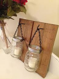 Mason Jar Candle Lights Rustic Ideas