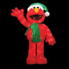 Elmo Halloween Stencil by 32 Pre Lit Soft Faux Fur Sesame Street Elmo Christmas Decoration
