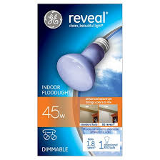 ge reveal 45 watt r20 incandescent light bulb target