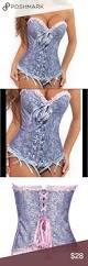 nwot beautiful corset bustier w g string women u0027s brocade lace up