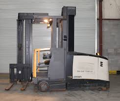 100 Turret Truck 2007 CROWN TSP 6000 SERIES VERY NARROW AISLE SWING REACH TRUCK