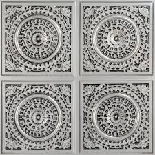 Staple Up Ceiling Tiles Home Depot by Grandma U0027s Doilies Quartet 2 Ft X 2 Ft Pvc Glue Up Ceiling Panel