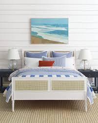 Lush Decor Serena Bedskirt by A Coastal Casual Master Bedroom Harbour Cane Bed U0026 Oxford Stripe