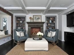 Living Room With Fireplace And Bookshelves by Living Room Built In Shelves Hgtv