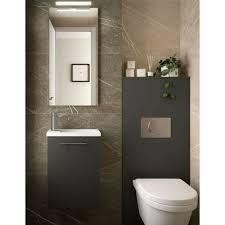 badmöbel set badezimmer möbel 40 cm hänge grau mit
