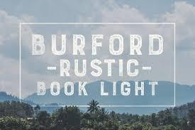 Burford Rustic Book Light