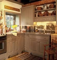 Kitchen Comely Image Of L Shape Rustic Cabin Kitchens Decoration Using Light Gray Wood
