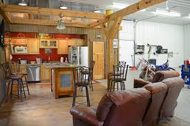 eight tips for building a pole barn with a u201cman cave u201d wick buildings