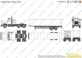 Knight Rider Trailer Truck Vector Drawing