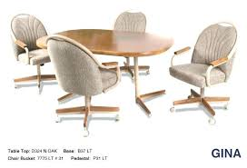 Kitchen Table And Chairs With Casters Swivel Dining Chairs With