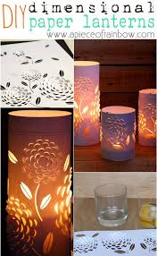 DIY Dimensional Paper Lanterns These Blossom Candle Holders Are Made From 3 Things Everyone Has Free Pattern Included To Make Your Own Set
