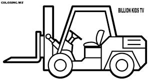 100 Types Of Construction Trucks Forklift Truck Coloring Pages Truck Coloring Pages In This