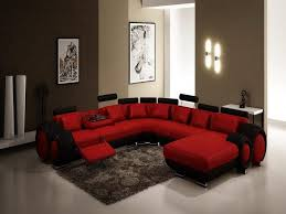 modern red and black sectional sofa black and red living room