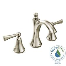 Moen Banbury Bathroom Faucet Brushed Nickel by Moen Banbury 8 In Widespread 2 Handle Bathroom Faucet In Chrome
