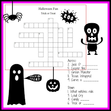 Halloween Brain Teasers Worksheets by Halloween Crossword Puzzle Free Teaching Resources Pinterest