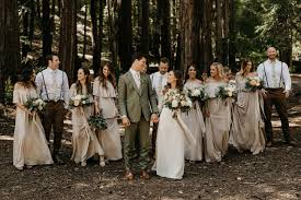 One Long Adventure A Rustic Wedding In The Redwoods With Copper Peach Palette