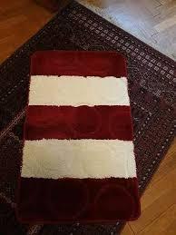badezimmerteppiche badematten badtextilien farbe rot
