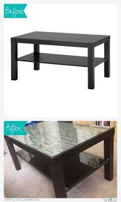 ikea hack lack coffee table resurfaced using smart tiles from